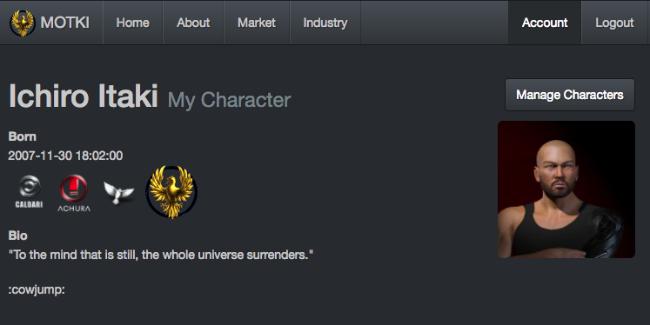 Screenshot of the MOTKI web app